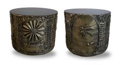 Adrian Pearsall Pair of American Modern Drum Side Tables Adrian Pearsall - 1930597