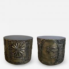 Adrian Pearsall Pair of American Modern Drum Side Tables Adrian Pearsall - 1933001