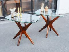 Adrian Pearsall Pair of Solid Afromosia Teak Jacks Jax Side Tables by Adrian Pearsall - 2110568