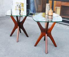 Adrian Pearsall Pair of Solid Afromosia Teak Jacks Jax Side Tables by Adrian Pearsall - 2110582