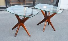Adrian Pearsall Pair of Solid Afromosia Teak Jacks Jax Side Tables by Adrian Pearsall - 2110584