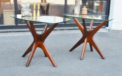 Adrian Pearsall Pair of Solid Afromosia Teak Jacks Jax Side Tables by Adrian Pearsall - 2110585