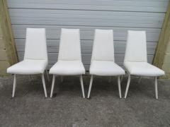 Adrian Pearsall Set Four Adrian Pearsall White Lacquered Dining Chairs Mid Century Modern - 1307534