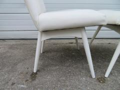 Adrian Pearsall Set Four Adrian Pearsall White Lacquered Dining Chairs Mid Century Modern - 1307535