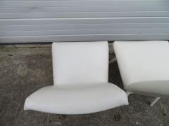 Adrian Pearsall Set Four Adrian Pearsall White Lacquered Dining Chairs Mid Century Modern - 1307537