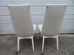 Adrian Pearsall Set Four Adrian Pearsall White Lacquered Dining Chairs Mid Century Modern - 1307538
