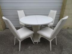 Adrian Pearsall Set Four Adrian Pearsall White Lacquered Dining Chairs Mid Century Modern - 1307543