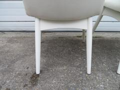 Adrian Pearsall Set Four Adrian Pearsall White Lacquered Dining Chairs Mid Century Modern - 1307545