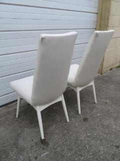 Adrian Pearsall Set Four Adrian Pearsall White Lacquered Dining Chairs Mid Century Modern - 1307589