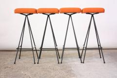 Adrian Pearsall Set of Four Adrian Pearsall 11 Iron Barstools - 470391