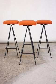 Adrian Pearsall Set of Four Adrian Pearsall 11 Iron Barstools - 470393