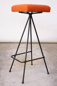 Adrian Pearsall Set of Four Adrian Pearsall 11 Iron Barstools - 470394