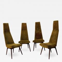 Adrian Pearsall Set of Four Adrian Pearsall High Back Dining Chairs for Craft Associates - 1797613