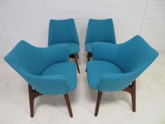 Adrian Pearsall Set of Four Adrian Pearsall Sculptural Walnut Dining Chairs - 1307560