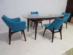 Adrian Pearsall Set of Four Adrian Pearsall Sculptural Walnut Dining Chairs - 1307562