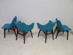 Adrian Pearsall Set of Four Adrian Pearsall Sculptural Walnut Dining Chairs - 1307563