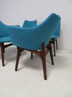 Adrian Pearsall Set of Four Adrian Pearsall Sculptural Walnut Dining Chairs - 1307598