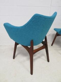 Adrian Pearsall Set of Four Adrian Pearsall Sculptural Walnut Dining Chairs - 1307599