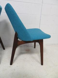 Adrian Pearsall Set of Four Adrian Pearsall Sculptural Walnut Dining Chairs - 1307600