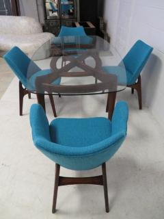 Adrian Pearsall Set of Four Adrian Pearsall Sculptural Walnut Dining Chairs - 1307601