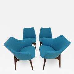 Adrian Pearsall Set of Four Adrian Pearsall Sculptural Walnut Dining Chairs - 1309051