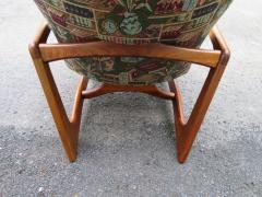 Adrian Pearsall Stylish Pair Adrian Pearsall Unique Wing Back Chair Sculpted Walnut Midcentury - 1296189