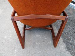 Adrian Pearsall Stylish Pair Adrian Pearsall Unique Wing Back Chair Sculpted Walnut Midcentury - 1296202