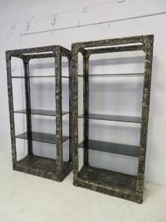 Adrian Pearsall Unusual and Rare Pair of Adrian Pearsall Brutalist Etageres - 1307594