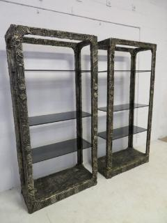 Adrian Pearsall Unusual and Rare Pair of Adrian Pearsall Brutalist Etageres - 1307597