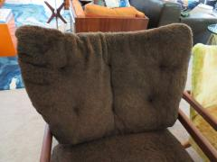Adrian Pearsall Wonderful Pair of Adrian Pearsall Sculptural Walnut Lounge Chairs plus Ottoman - 1296221