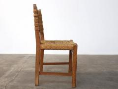 Adrien Audoux Frida Minet Very Rare Pair of Side Chairs by Audoux et Minet Sissal Rope for Vibo Vesoul - 417712