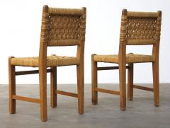 Adrien Audoux Frida Minet Very Rare Pair of Side Chairs by Audoux et Minet Sissal Rope for Vibo Vesoul - 417715