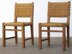Adrien Audoux Frida Minet Very Rare Pair of Side Chairs by Audoux et Minet Sissal Rope for Vibo Vesoul - 417717