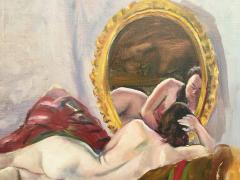 Adrien Dupagne Lounging Nude Looking in the Mirror - 1687964