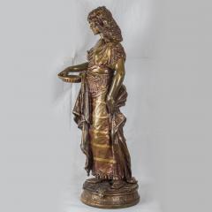 Adrienz tienne Gaudez A Fine Polychrome Bronze Sculpture of a Gypsy Woman - 1436273
