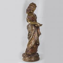 Adrienz tienne Gaudez A Fine Polychrome Bronze Sculpture of a Gypsy Woman - 1436274