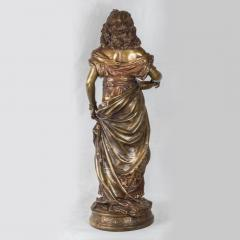 Adrienz tienne Gaudez A Fine Polychrome Bronze Sculpture of a Gypsy Woman - 1436275