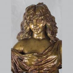 Adrienz tienne Gaudez A Fine Polychrome Bronze Sculpture of a Gypsy Woman - 1436276