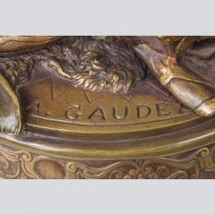 Adrienz tienne Gaudez A Fine Polychrome Bronze Sculpture of a Gypsy Woman - 1436277