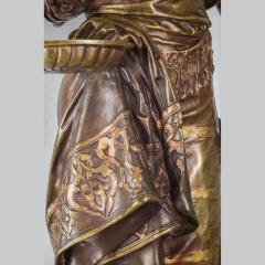Adrienz tienne Gaudez A Fine Polychrome Bronze Sculpture of a Gypsy Woman - 1436278