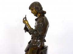Adrienz tienne Gaudez A Young Bladesmith French Antique Bronze Sculpture by Adrien Etienne Gaudez - 1094298