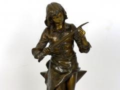Adrienz tienne Gaudez A Young Bladesmith French Antique Bronze Sculpture by Adrien Etienne Gaudez - 1094300