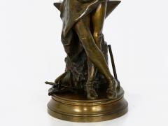 Adrienz tienne Gaudez A Young Bladesmith French Antique Bronze Sculpture by Adrien Etienne Gaudez - 1094301