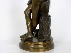 Adrienz tienne Gaudez A Young Bladesmith French Antique Bronze Sculpture by Adrien Etienne Gaudez - 1094303