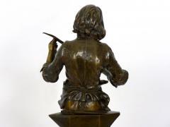 Adrienz tienne Gaudez A Young Bladesmith French Antique Bronze Sculpture by Adrien Etienne Gaudez - 1094307
