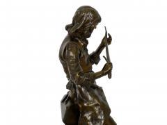 Adrienz tienne Gaudez A Young Bladesmith French Antique Bronze Sculpture by Adrien Etienne Gaudez - 1094308