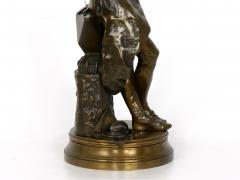 Adrienz tienne Gaudez A Young Bladesmith French Antique Bronze Sculpture by Adrien Etienne Gaudez - 1094309