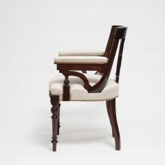 Aesthetic Style Mahogany Armchair with Greek Key Design - 1538617