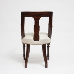 Aesthetic Style Mahogany Armchair with Greek Key Design - 1538619
