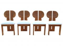 Afra Tobia Scarpa 6 Africa Studio Dining Chairs In The Manner of Afra Tobia Scarpa - 1878310